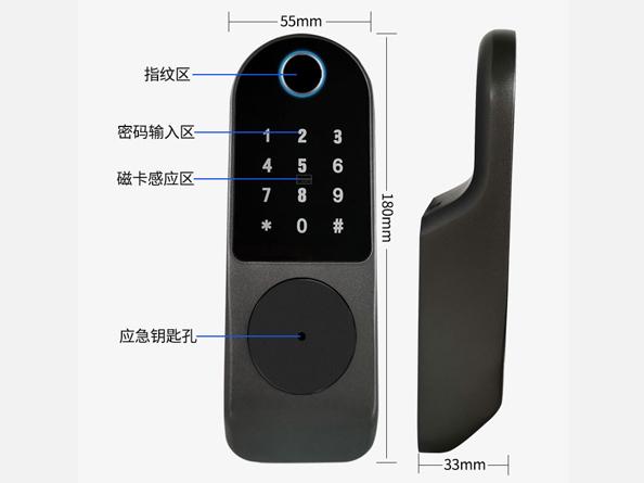 真地指纹密码刷卡锁C08