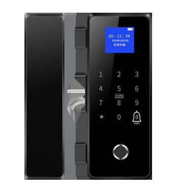 真地玻璃门型指纹锁ZD308